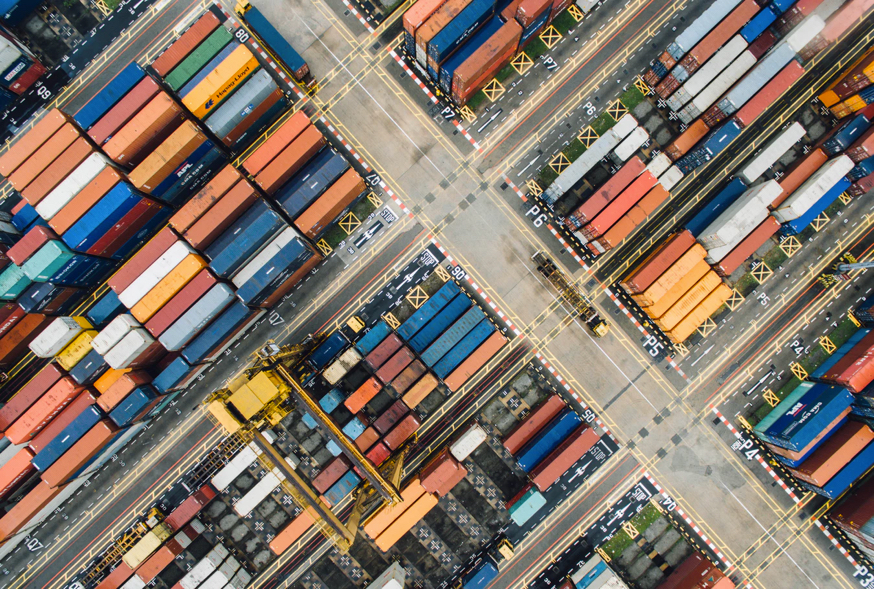 Cargo Containers From Above
